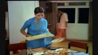 getlinkyoutube.com-Rekha  Indian Actress Hot Beautiful in Blue Saree