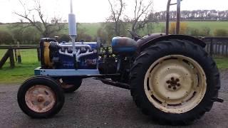 getlinkyoutube.com-Fordson major 6 cylinder converted tractor
