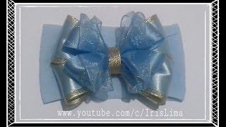 getlinkyoutube.com-Como Fazer Laço Mil Faces Cinderela   Diy ,Tutorial ,Pap By Iris Lima How To Make a Hair Bow