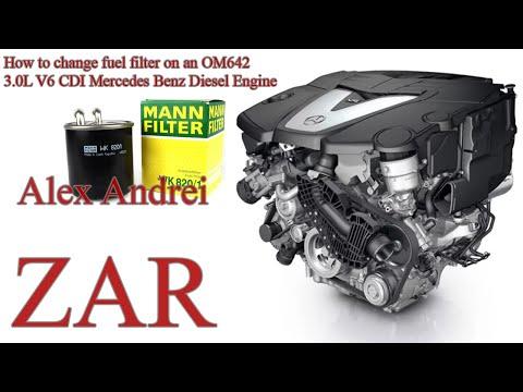 How to change the OM642 fuel filter 3.0L V6 Mercedes Benz Diesel Engine