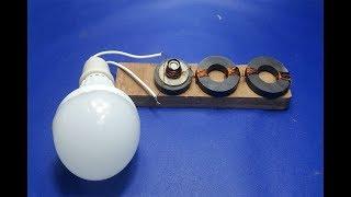 Free Energy Light Bulbs  Using Magnet width=