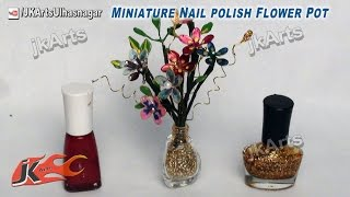 getlinkyoutube.com-DIY Miniature Nail Polish Flower Pot   How To Make   JK Arts 443