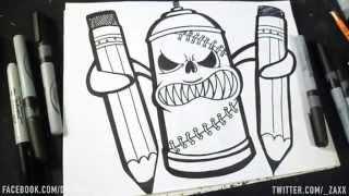 getlinkyoutube.com-Dessin: Bombe de Peinture II (Graffiti) DwZaXx