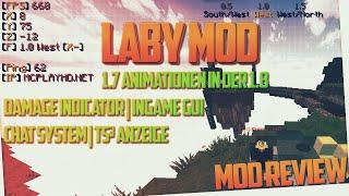 getlinkyoutube.com-LABY MOD | Mod Review & Installation | 1.7 Animationen in 1.8 & erweitertes GUI & Damage ...