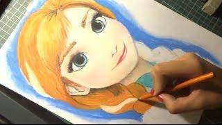 getlinkyoutube.com-Speed Drawing: Anna (Frozen) | Diana Diaz