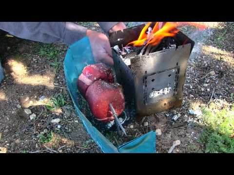 Fire Roasting Fillet Mignon Steaks On The Coffee Spit! Gourmet Camping Food!