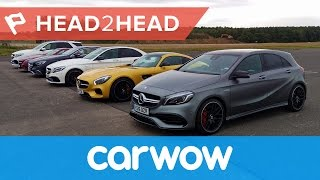 getlinkyoutube.com-Ultimate Mercedes-AMG Drag Race: six cars... 3268hp... one winner! | Head2Head