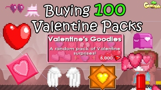 getlinkyoutube.com-Growtopia | Buying Valentine PACKS for 500k gems!