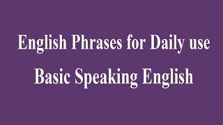 getlinkyoutube.com-English Phrases for Daily use - Basic Speaking English