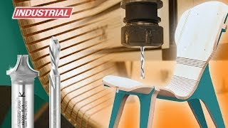 getlinkyoutube.com-Kerf Chair, Designed by Boris Goldberg, Using Amana Tool CNC Compression Spiral Bits