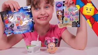 getlinkyoutube.com-[JOUET] Surprises Minnie, Petshop, Furby Boom & friandise WC - Studio Bubble Tea unboxing toys