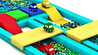 getlinkyoutube.com-Мультики для малышей. 4 МАШИНКИ: гоночная трасса. Развивающие мультики.
