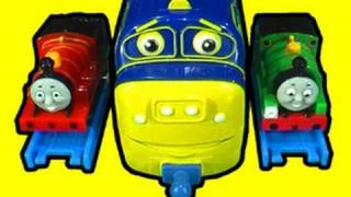 getlinkyoutube.com-Thomas Mini Tomy & Big Chuggington Toy Review