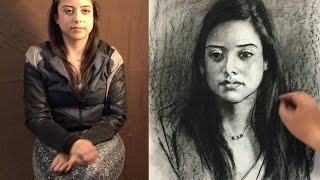 getlinkyoutube.com-How to start a portrait drawing from live, revised