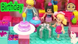 getlinkyoutube.com-Surprise Blind Bag Lego Play Video at Barbie Doll Chelsea's Birthday Party with Queen Elsa & Friends