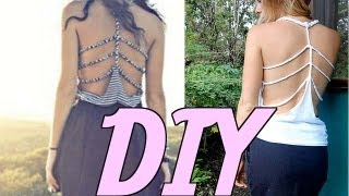 getlinkyoutube.com-DIY: Strap-back Braided Tank