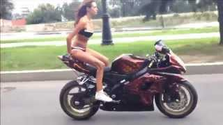 getlinkyoutube.com-Russian Biker Girl---- MUST WATCH----