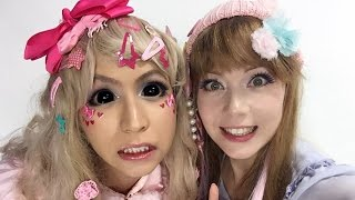 getlinkyoutube.com-「KAWAII♡PATEENコラボ」- KAWAII ♡PATEEN Collab - デコロリータメイク方法(化粧) Deco Lolita Makeup Tutorial