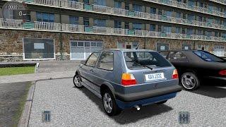 getlinkyoutube.com-City Car Driving 1.5.0 VW Golf II 2 1.6 TD [Logitech G27]