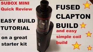 getlinkyoutube.com-Kangertech Subox Mini RBA deck FUSED CLAPTON build and easy build