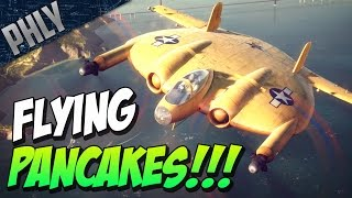 getlinkyoutube.com-World Of Warships NEW - FLYING PANCAKES & Haunted Aircraft Carrier!