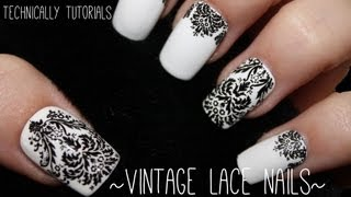 Easy Vintage Lace Nails | Technically Tutorials