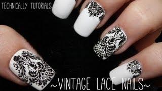 getlinkyoutube.com-Easy Vintage Lace Nails | Technically Tutorials