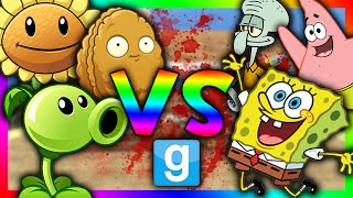 getlinkyoutube.com-PLANTS VS SPONGEBOB!!! | Gmod Sandbox (Spongebob Mod, Plants vs Zombies mod)