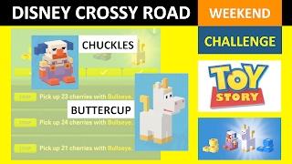 getlinkyoutube.com-Disney Crossy Road Weekend Challenge Toy Story (Chuckles, Buttercup)