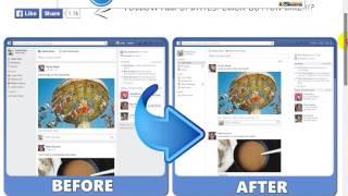 كيفية ارجاع الشكل القديم للصفحة الرئيسية للفيسبوك 2014