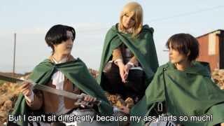getlinkyoutube.com-Shingeki no Kyojin 進撃の巨人 Cosplay CMV Making of
