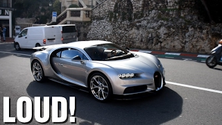 getlinkyoutube.com-FIRST Bugatti Chiron SOUND, Accelerations, Revs on the road in Monaco!