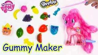 getlinkyoutube.com-Real Food Gummy Creations Candy Maker Playset with MY Little Pony Pinkie Pie Shopkins Toy Unboxing