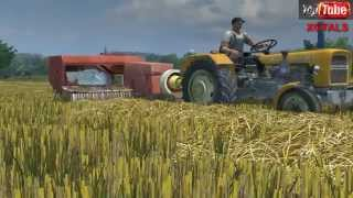 getlinkyoutube.com-Farming Simulator 2013 Żniwa 2014 Prasowanie Ursus C-330+ Sipma Z-224