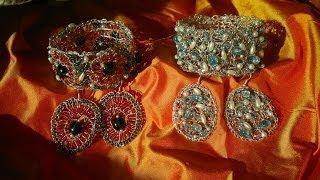 getlinkyoutube.com-Браслеты,серьги.Мастер-класс.Проволока,бусины,бисер.Wrist,strap beaded jewelry.