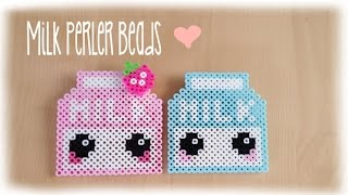 getlinkyoutube.com-Kawaii Milk Perler Bead Crafting Tutorial