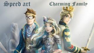 getlinkyoutube.com-Speed Art-Charming Family (Dexter,Darling,Daring)-Aay
