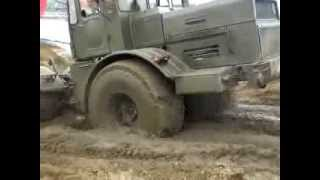 getlinkyoutube.com-Russian monster tractor Kirovets K-700 rides through the mud