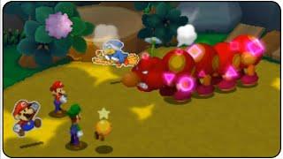 getlinkyoutube.com-Mario & Luigi Paper Jam Walkthrough Part 23 Paper Kamek & Wiggler Boss Battle