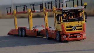 getlinkyoutube.com-LEGO Technic MERCEDES BENZ  auto transporter