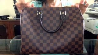 getlinkyoutube.com-Care of Louis Vuitton Speedy Bandouliere Damier Ebene 30