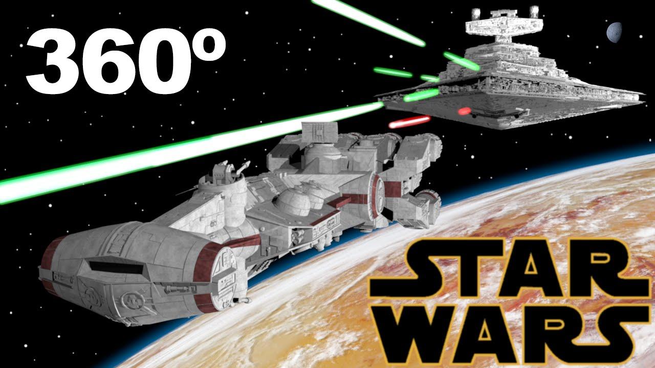 La primera escena de Starwars Una Nueva Esperanza en 360 / VR