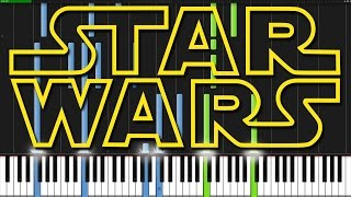 Star Wars Medley [Piano Tutorial] (Synthesia)