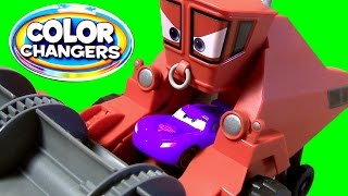 getlinkyoutube.com-Disney Pixar Cars Frank is Eating Lightning McQueen Color Changers Cars Frank the Combine Tractor