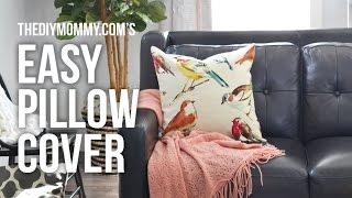 getlinkyoutube.com-How to Sew an Easy Pillow Cover // NO zipper, NO buttons, REALLY fast!