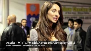 Anusha Dandekar - MTV VJ/Singer/Actress being interviewed