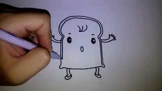 getlinkyoutube.com-สอนวาดการ์ตูน ขนมปังแผ่น by วาดการ์ตูนกันเถอะ