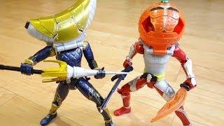 getlinkyoutube.com-バナナ!?...オレンジだ!鎧武とバロンの鎧を着せ替え レビュー!ACアームズチェンジシリーズ 仮面ライダー鎧武(ガイム)