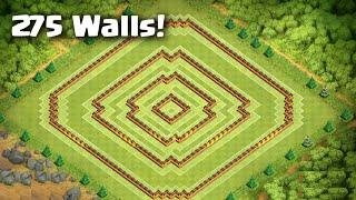 getlinkyoutube.com-Clash of Clans - BEST Town Hall 10 Farming Base - 275 Walls - Anti-Earthquake [Hypercube]