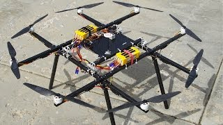 getlinkyoutube.com-Huge OCTOCOPTER Flight Tests - RCTESTFLIGHT -